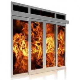 Priešgaisrinės stiklo konstrukcijos gaminamos iš aliuminio profilių,